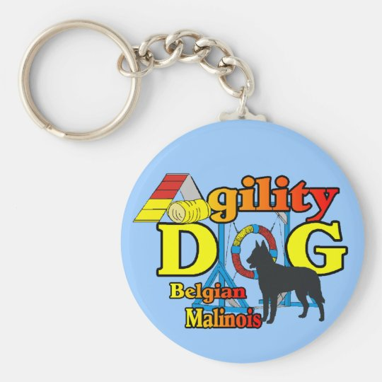 Agility Belgian Malinois Gifts Keychain
