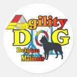 Agility Belgian Malinois Gifts Sticker