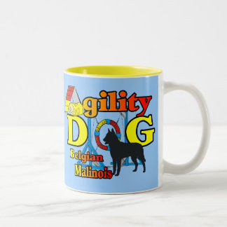 Agility Belgian Malinois Gifts Two-Tone Coffee Mug