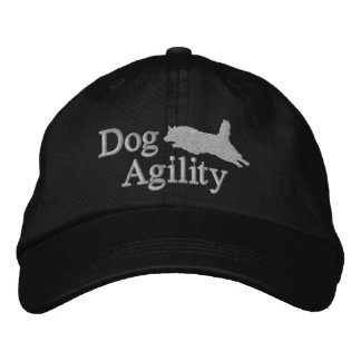 Agility Belgian Tervuren Embroidered Hat (Silver)