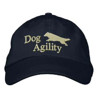 Agility Border Collie Dark Embroidered Baseball Cap