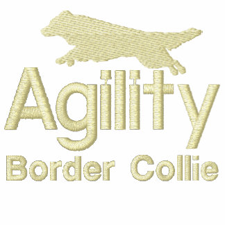 Agility Border Collie Embroidered Hoodie