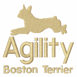 Agility Boston Terrier Embroidered Shirt