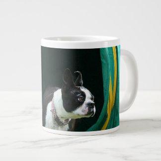 Agility Boston terrier Giant Coffee Mug