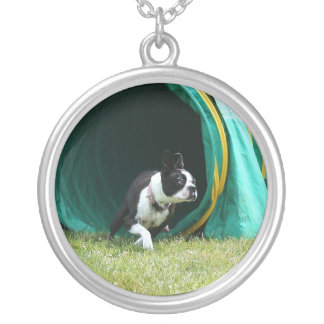 Agility Boston Terrier necklace