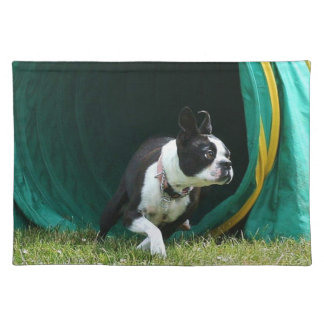 Agility Boston terrier Placemat