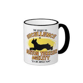 Agility Boston Terrier Secret Coffee Mugs