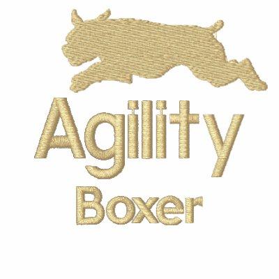 Agility Boxer Embroidered Hooded Sweatshirt