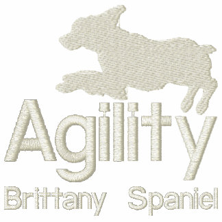 Agility Brittany Spaniel Embroidered Hooded Sweatshirts