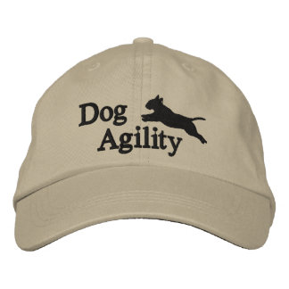Agility Bull Terrier Embroidered Baseball Cap