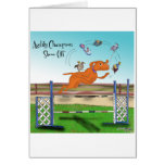 Agility Champion Show Off Greeting Cards