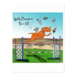 Agility Champion Show Off Postcard