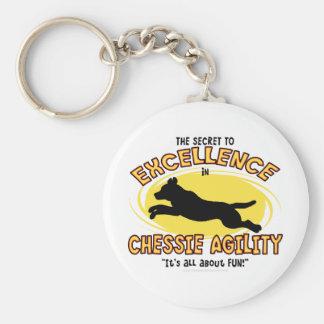 Agility Chessie Secret Basic Round Button Keychain