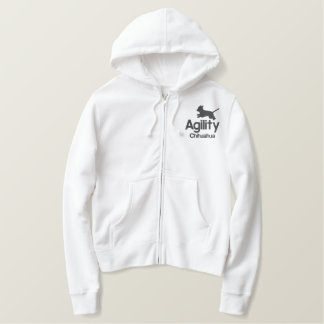 Agility Chihuahua Women's Embroidered Hoodie