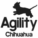 Agility Chihuahua Women's Embroidered Hoody