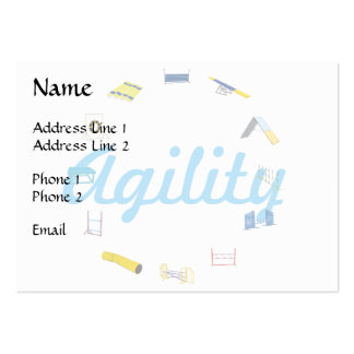 Agility Circle Large Business Cards (Pack Of 100)