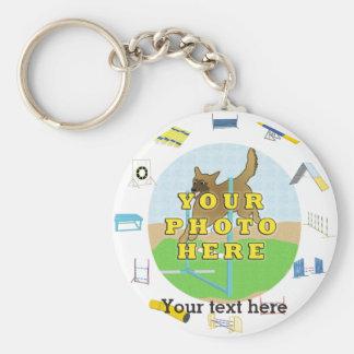 Agility Customize Photo Basic Round Button Keychain