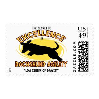 Agility Dachshund Secret Postage Stamps