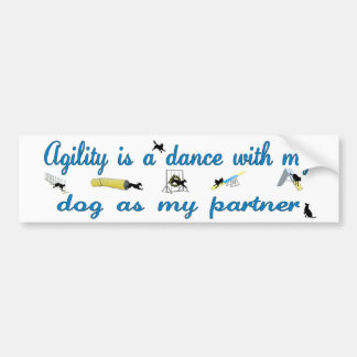 Agility Dance Bumper Sticker