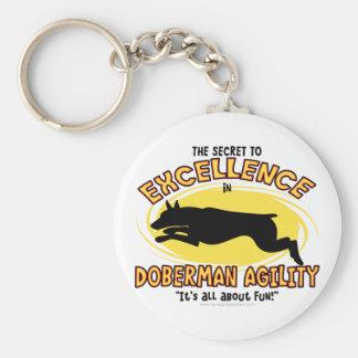 Agility Doberman Pinscher Secret Keychain