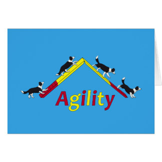 Agility dog card