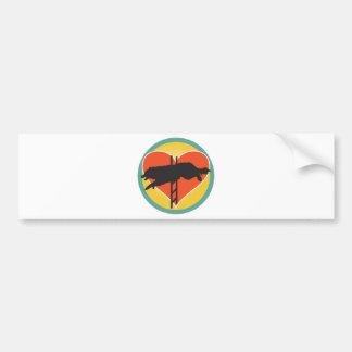 Agility Dog Heart Bumper Stickers