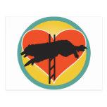 Agility Dog Heart Postcard