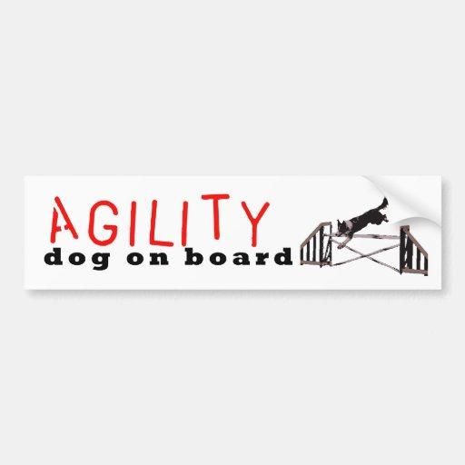 Agility dog on board -Jumps Bumper Sticker