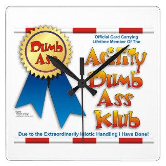 Agility Dumb Ass Klub clock