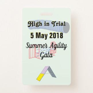 Agility Event Award Badge