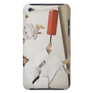 Agility exercise in karate class iPod Case-Mate case