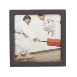 Agility exercise in karate class jewelry box