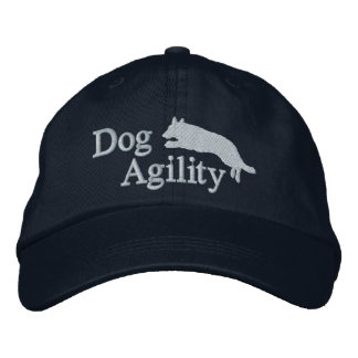 Agility German Shepherd Embroidered Baseball Cap