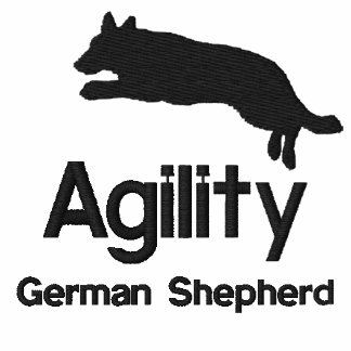 Agility German Shepherd Embroidered Hooded Sweatshirt