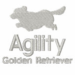 Agility Golden Retriever Embroidered Hooded Sweatshirt
