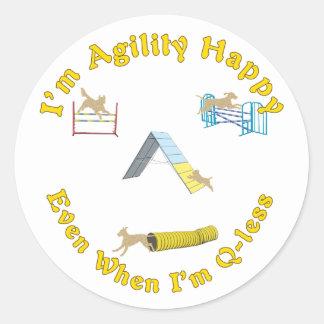 Agility Happy Classic Round Sticker