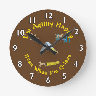 Agility Happy Round Clock