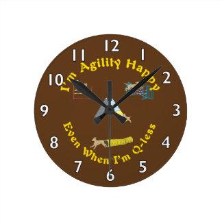 Agility Happy Round Clock