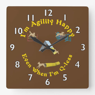 Agility Happy Square Wall Clock