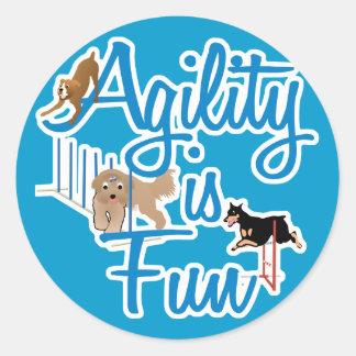 Agility Is Fun Classic Round Sticker