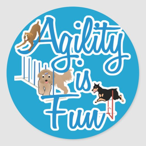 Agility Is Fun Stickers