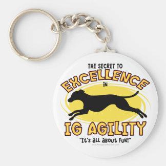 Agility Italian Greyhound Secret Keychain