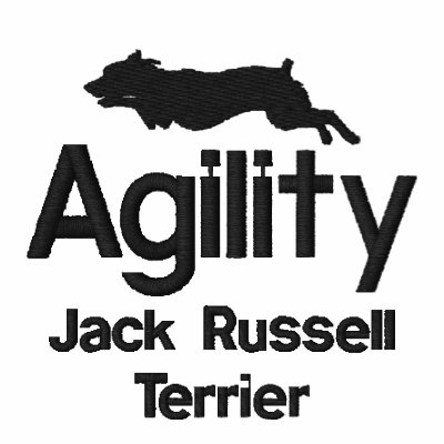 Agility Jack Russell Terrier Embroidered PoloShirt Embroidered Polo Shirt