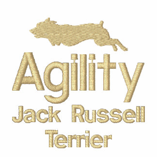 Agility Jack Russell Terrier Embroidered T-Shirt