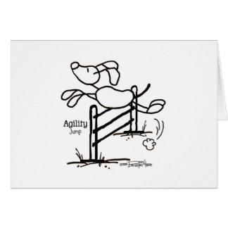 Agility Jump - Stick Dog Greeting Card