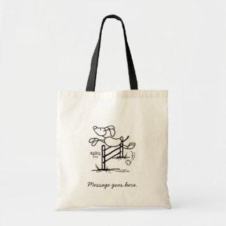 Agility Jump - Stick Dog Tote Bag