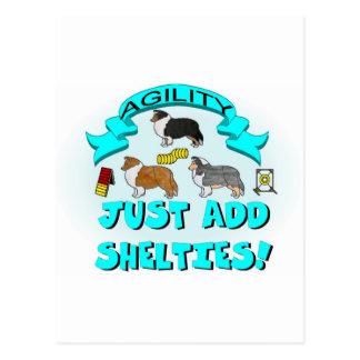 Agility - Just Add Shelties Postcard