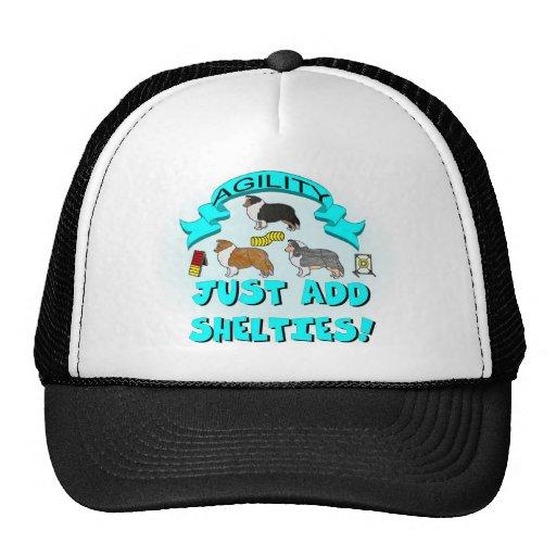 Agility - Just Add Shelties Trucker Hat