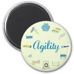 Agility Obstacles 2 Inch Round Magnet
