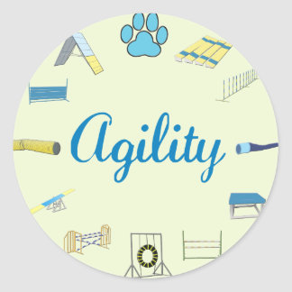 Agility Obstacles Classic Round Sticker